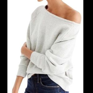 "JCREW ""EASY"" OFF THE SHOULDER SWEATSHIRT XXS/XS"